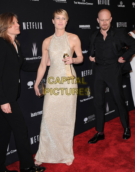 Robin Wright and Ben Foster<br />  attends THE WEINSTEIN COMPANY &amp; NETFLIX 2014 GOLDEN GLOBES AFTER-PARTY held at The Beverly Hilton Hotel in Beverly Hills, California on January 12,2014                                                                               <br /> CAP/DVS<br /> &copy;DVS/Capital Pictures