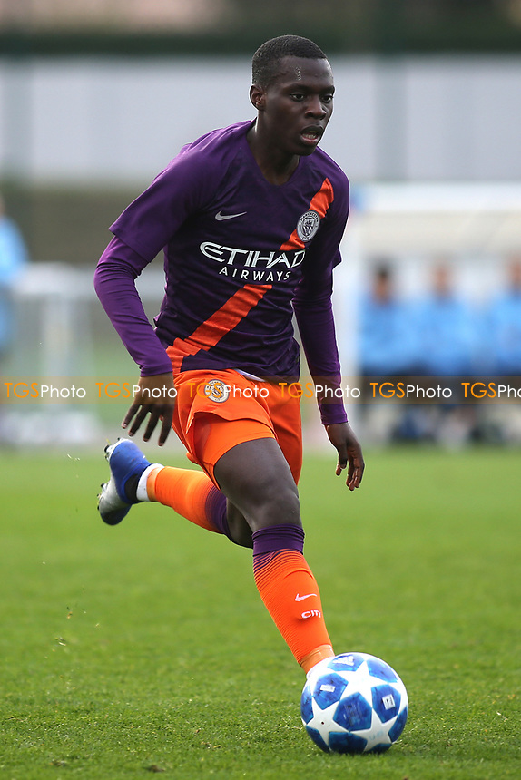 Claudio Gomes of Manchester City U19's in action during Lyon Under-19 vs Manchester City Under-19, UEFA Youth League Football at Groupama OL Academy on 27th November 2018