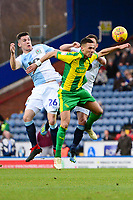 Blackburn Rovers' Darragh Lenihan goes up for a header with West Bromwich Albion's Kieran Gibbs<br /> <br /> Photographer Richard Martin-Roberts/CameraSport<br /> <br /> The EFL Sky Bet Championship - Blackburn Rovers v West Bromwich Albion - Tuesday 1st January 2019 - Ewood Park - Blackburn<br /> <br /> World Copyright &not;&copy; 2019 CameraSport. All rights reserved. 43 Linden Ave. Countesthorpe. Leicester. England. LE8 5PG - Tel: +44 (0) 116 277 4147 - admin@camerasport.com - www.camerasport.com