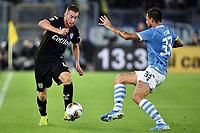 Dejan Kulusevski of Parma , Francesco Acerbi of SS Lazio <br /> Roma 22-9-2019 Stadio Olimpico <br /> Football Serie A 2019/2020 <br /> SS Lazio - Parma Calcio <br /> Foto Andrea Staccioli / Insidefoto