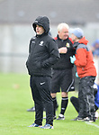 Manager of Newmarket Celtic Liam Murphy on the sideline against Janesboro during their Munster Junior Cup semi-final at Limerick. Photograph by John Kelly.