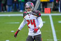 Tampa Bay Buccaneers cornerback Brent Grimes (24) during a National Football League game against the Green Bay Packers on December 2nd, 2017 at Lambeau Field in Green Bay, Wisconsin. Green Bay defeated Tampa Bay 26-20. (Brad Krause/Krause Sports Photography)