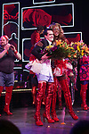 'Panic! at The Disco's' Brendon Urie makes his broadway debut as 'Charlie Price' in 'Kinky Boots' with J. Harrison Ghee Broadway at The Al Hirschfeld Theatre on June 4, 2017 in New York City.