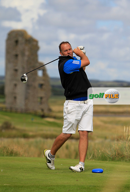 Ben Best (Rathmore) on the 13th tee during the South of Ireland Amateur Open Championship 4th Round at Lahinch Golf Club  29th July 2013 <br /> Picture:  Thos Caffrey / www.golffile.ie