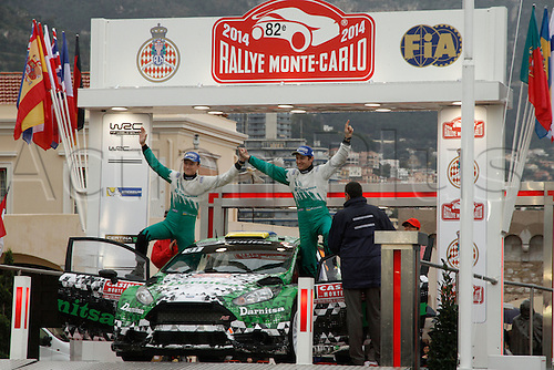 19.01.2014. Monte Carlo, Monaco. The WRC Monte Carlo rally conclusion.  10th overall position for  PROTASOV and CHEREPIN on the podium with their car