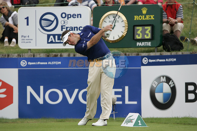 Lee Westwood tees off on the 1st to start his 3rd round of the 2008 Open de France Alstom at Golf National, Paris, France June 28th 2008 (Photo by Eoin Clarke/GOLFFILE)