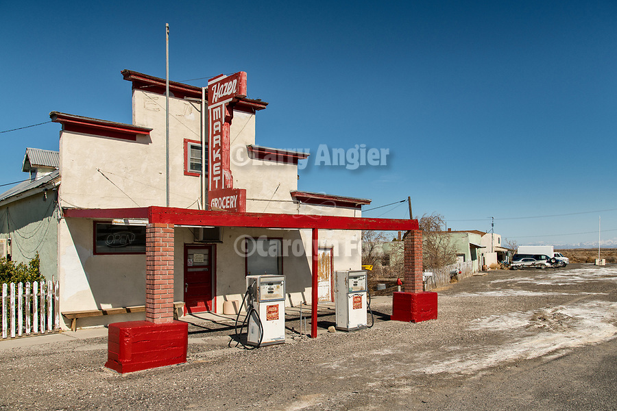Abandoned Hazel Grocery, town of Hazen in the Lahoten Valley along the old Lincoln Highway, Nevada