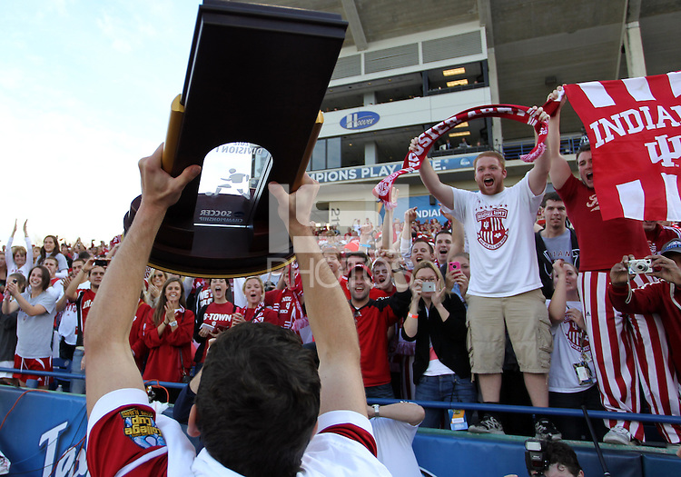 HOOVER, AL - DECEMBER 09, 2012: Indiana University the NCAA 2012 Men's College Cup championsl, at Regions Park, in Hoover , AL, on Sunday, December 09, 2012.