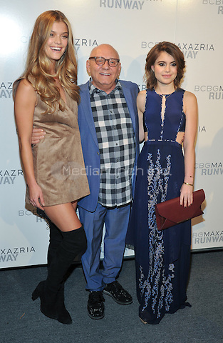 New York,NY-FEBRUARY 11: Nina Agdal, Max Azria, Sami Gayle attend the BCBGMAXAZRIA Fall 2016 show during New York Fashion Week: The Shows at The Arc, Skylight at Moynihan Station on February 11, 2016 in New York City.Credit: John Palmer/MediaPunch