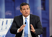 United States Senator Ted Cruz (Republican of Texas) is interviewed at the Conservative Political Action Conference (CPAC) at the Gaylord National Resort and Convention Center in National Harbor, Maryland on Thursday, February 22, 2018.<br /> Credit: Ron Sachs / CNP