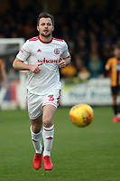 Mark Hughes of Accrington Stanley runs with the ball during Cambridge United vs Accrington Stanley, Sky Bet EFL League 2 Football at the Cambs Glass Stadium on 11th November 2017