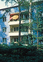 Berlin: Zehlendorf. Onkel Toms Hutte. Public housing designed by Bruno Taut.