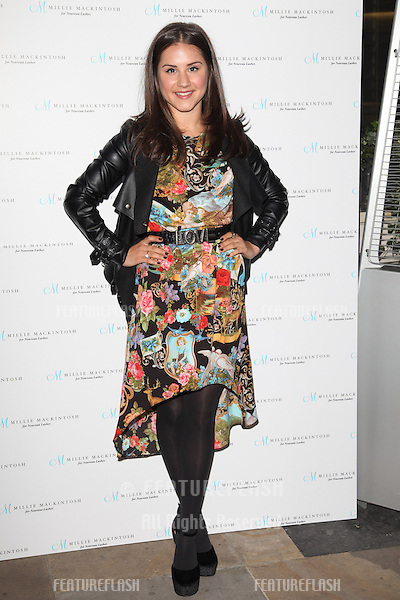 Electra Formosa arriving for the Nouveau Lashes Launch, London.  18/09/2012 Picture by: Alexandra Glen / Featureflash