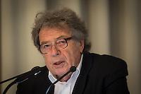 Berlin, Ungarischer Schriftsteller György Konrád spricht am Freitag (17.05.13) in Humboldt-Universität in Berlin. Foto: Maja Hitij/CommonLens