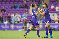 Orlando, FL - Saturday July 01, 2017: Rachel Hill, Alex Morgan during a regular season National Women's Soccer League (NWSL) match between the Orlando Pride and the Chicago Red Stars at Orlando City Stadium.