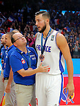 France's Joffrey Lauvergne after European championship basketball match for third place between France and Serbia on September 20, 2015 in Lille, France  (credit image & photo: Pedja Milosavljevic / STARSPORT)
