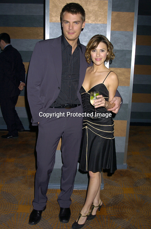 Jeff Branson and Elizabeth Hendrickson..at the Rainbow Room at the celebration for All My Childrens's 35th Anniversary after a show at Town Hall benefitting Broadway Cares Equity Fights Aids on February 7, 2005. ..Photo by Robin Platzer, Twin Images
