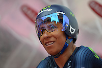 ITALIA. 22-05-2014. Nairo Alexander  Quintana Rojas -Col- (Movistar) durante su participación en la etapa 12 a cronómetro individual entre  Barbaresco y Barolo con una distancia de 42,2 Km en la versión 97 del Giro de Italia hoy 22 de mayo de 2014. / Nairo Alexander  Quintana Rojas -Col- (Movistar) during his participation on the 12th stage, single stopwatch, between Barbaresco and Barolo with a distance of 42.2 km in the 97th version of Giro d'Italia today May 22th 2014.   Photo: VizzorImage/ Gian Mattia D'Alberto / LaPresse