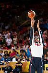 Anthony Davis of United States of America during FIBA Basketball World Cup 2014 group C between United States of America vs Turkey  on August 31, 2014 at the Bilbao Arena stadium in Bilbao, Spain. Photo by Nacho Cubero / Power Sport Images