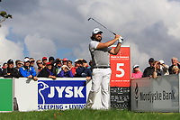 Victor Dubuisson (FRA) on the 5th tee during Round 4 of Made in Denmark at Himmerland Golf &amp; Spa Resort, Farso, Denmark. 27/08/2017<br /> Picture: Golffile | Thos Caffrey<br /> <br /> All photo usage must carry mandatory copyright credit     (&copy; Golffile | Thos Caffrey)