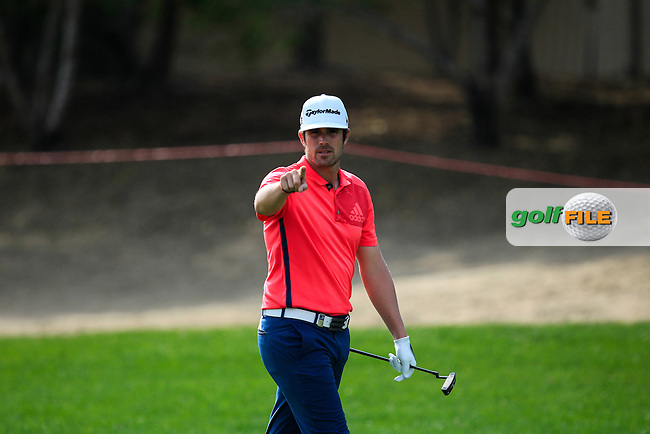Nacho Elvira (ESP) on the 5th fairway during Round 4 of the Abu Dhabi HSBC Championship on Sunday 22nd January 2017.<br /> Picture:  Thos Caffrey / Golffile<br /> <br /> All photo usage must carry mandatory copyright credit     (&copy; Golffile | Thos Caffrey)