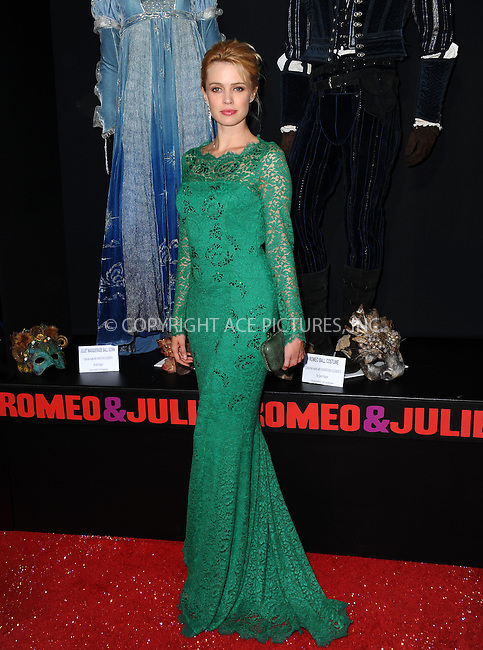 WWW.ACEPIXS.COM<br /> <br /> September 24 2013, LA<br /> <br /> Nathalie Rapti Gomez arriving at the world premiere of 'Romeo and Juliet' at the ArcLight Hollywood on September 24, 2013 in Hollywood, California.<br /> <br /> <br /> By Line: Peter West/ACE Pictures<br /> <br /> <br /> ACE Pictures, Inc.<br /> tel: 646 769 0430<br /> Email: info@acepixs.com<br /> www.acepixs.com