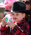 Jett Rupert, 5, plays at the annual Nevada Day Parade in Carson City, Nev., on Saturday, Oct. 28, 2011..Photo by Cathleen Allison