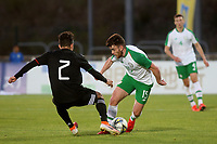 Aaron Connolly of Republic of Ireland takes the ball past Alan Mozo of Mexico during Republic Of Ireland Under-21 vs Mexico Under-21, Tournoi Maurice Revello Football at Stade Parsemain on 6th June 2019