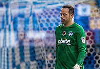 Goalkeeper David Forde of Portsmouth during the FA Cup 1st round match between Portsmouth and Wycombe Wanderers at Fratton Park, Portsmouth, England on the 5th November 2016. Photo by Liam McAvoy.