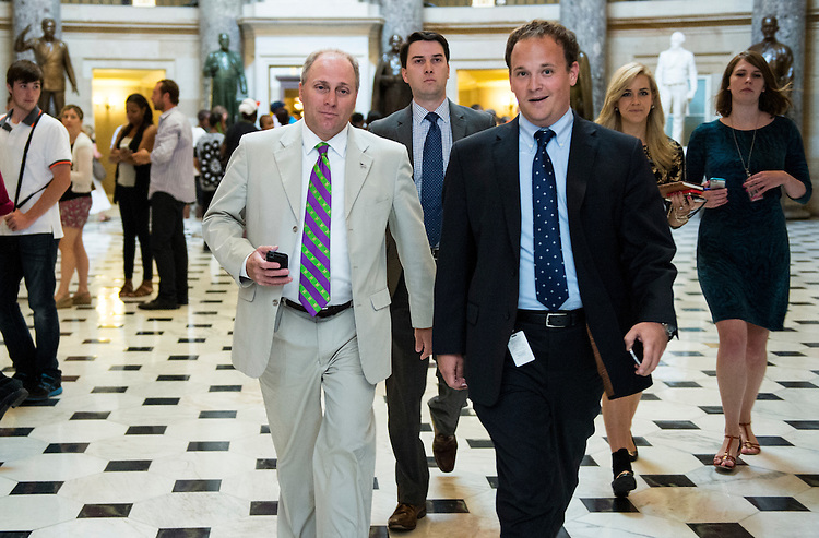 UNITED STATES - JUNE 11: Rep. Steve Scalise, R-La., makes his way to the House floor through Statuary Hall on Wednesday, June 11, 2014. (Photo By Bill Clark/CQ Roll Call)