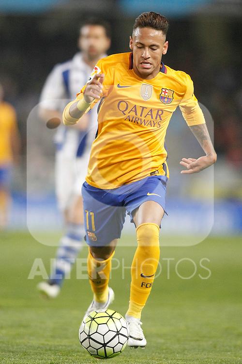 FC Barcelona's Neymar Santos Jr during La Liga match. April 9,2016. (ALTERPHOTOS/Acero)