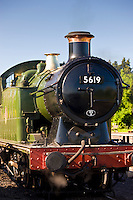 British Railways steam train engine 5619 at Toddington station, Gloucestershire