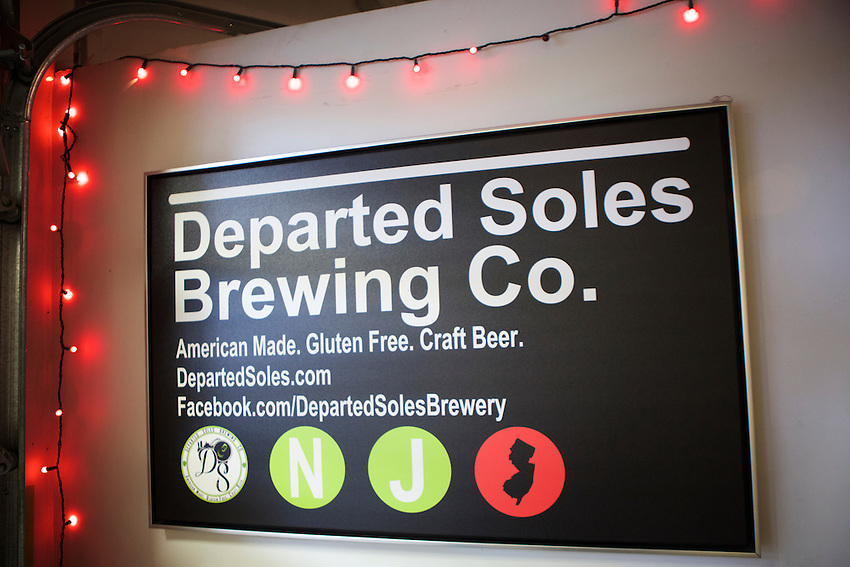 Jersey City, NJ - May 13, 2016: Departed Soles Brewing Company, Jersey City's first Brewery, specializes in gluten-free beer.<br /> <br /> CREDIT: Clay Williams for Gothamist.<br /> <br /> &copy; Clay Williams / claywilliamsphoto.com