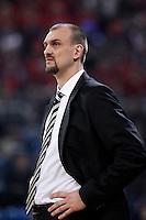 Caja Laboral Baskonia's coach Zan Tabak during Spanish Basketball King's Cup match.February 07,2013. (ALTERPHOTOS/Acero)