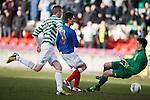 Rangers striker Ryan Hardie scores the first for Rangers