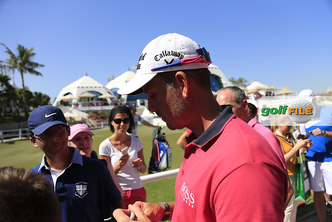 Henrik STENSON (SWE) after his match during Pink Friday's Round 2 of the 2015 Omega Dubai Desert Classic held at the Emirates Golf Club, Dubai, UAE.: Picture Eoin Clarke, www.golffile.ie: 1/30/2015