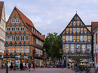Blick vom Markt auf Zöllner Str., Celle, Niedersachsen, Deutschland, Europa<br /> Zöllner St. seen vom Market, Celle, Lower Saxony, Germany, Europe