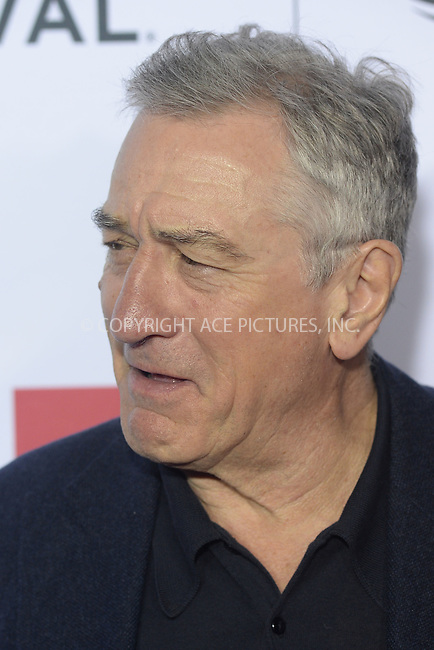 WWW.ACEPIXS.COM<br /> April 21, 2016 New York City<br /> <br /> Robert De Niro attending the 'Taxi Driver' 40th Anniversary Celebration during the 2016 Tribeca Film Festival at The Beacon Theatre on April 21, 2016 in New York City.<br /> <br /> <br /> Credit: Kristin Callahan/ACE Pictures<br /> <br /> <br /> ACE Pictures, Inc.<br /> tel: 646 769 0430<br /> Email: info@acepixs.com