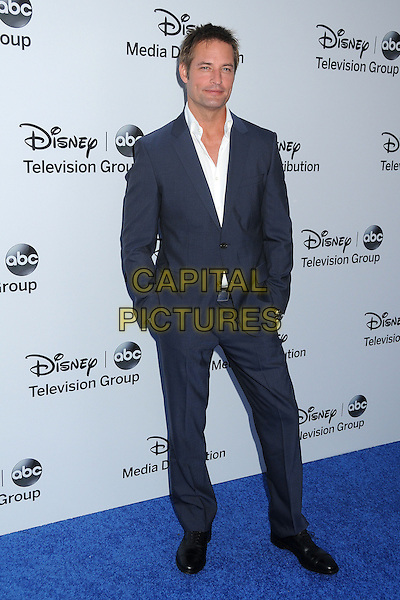 Josh Holloway.Disney Media Networks International Upfronts 2013 held at Walt Disney Studios, Burbank, California, USA..May 19th, 2013.full length blue white shirt suit hands in pockets .CAP/ADM/BP.©Byron Purvis/AdMedia/Capital Pictures