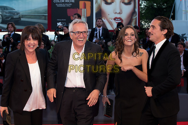 Director Marco Bellocchio and actors Elena Bellocchio and Pier Giorgio Bellocchio at the premiere of Blood Of My Blood at the 2015 Venice Film Festival.<br /> September 8, 2015  Venice, Italy<br /> CAP/KA<br /> &copy;Kristina Afanasyeva/Capital Pictures