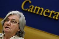 Roma, 5 Agosto 2015<br /> Rosy Bindi.<br /> Camera dei Deputati.<br /> La commissione antimafia presenta alla stampa la relazione sui giornalisti minacciati