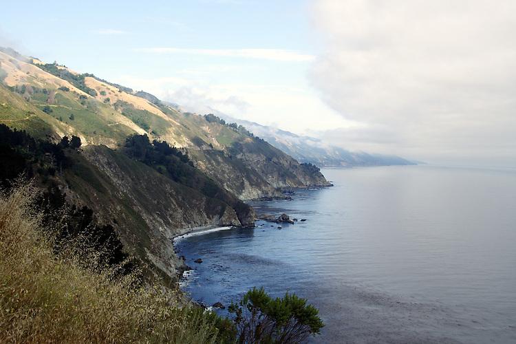 Fog rolling in, on the Pacific Coast Highway