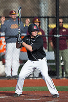 Milo Freeman (4) of the Rutgers Scarlet Knights at bat against the Iona Gaels at City Park on March 8, 2017 in New Rochelle, New York.  The Scarlet Knights defeated the Gaels 12-3.  (Brian Westerholt/Four Seam Images)