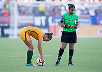 Carson, CA - August 3, 2017: Australia defeated Brazil 6-1 during the Tournament of Nations in StubHub Center.