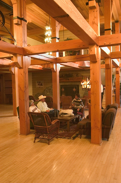 WY: Wyoming; Yellowstone National Park:.Snow Lodge near Old Faithful.  .Photo #: yellow1192.Photo copyright Lee Foster, 510/549-2202, lee@fostertravel.com, www.fostertravel.com..