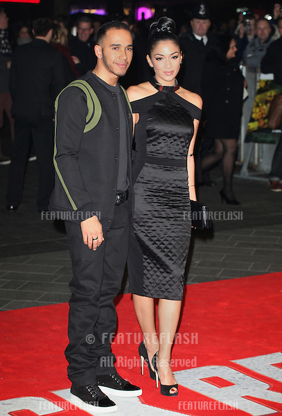 Lewis Hamilton and Nicole Scherzinger arriving at the World Premiere of Jack Reacher, at Odeon Leicester Square, London. 10/12/2012 Picture by: Alexandra Glen / Featureflash