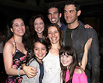 Elena Roger with cast members all making their Broadway debut attending the Broadway Opening Night Actors' Equity Gypsy Robe Ceremony for recipient Matt Wall in 'EVITA' at the Marquis Theatre in New York City on 4/6/2012