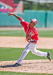 28 February 2016: Washington Nationals pitcher Abel De Los Santos on the mound during an inter-squad pre-season Spring Training game at Space Coast Stadium in Viera, Florida. Mandatory Credit: Ed Wolfstein Photo *** RAW (NEF) Image File Available ***