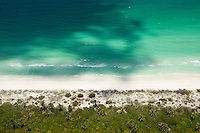 Aerial photographs of the island of Holbox, Quintana Roo, Mexico