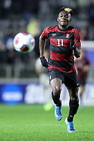 CARY, NC - DECEMBER 13: Ousseni Bouda #11 of Stanford University chases the ball during a game between Stanford and Georgetown at Sahlen's Stadium at WakeMed Soccer Park on December 13, 2019 in Cary, North Carolina.
